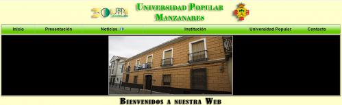 Página Web de la Universidad Popular de Manzanares